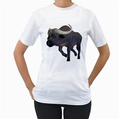 Buffalo 3 Womens  T-shirt (White)