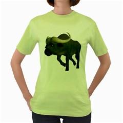 Buffalo 3 Womens  T-shirt (Green)