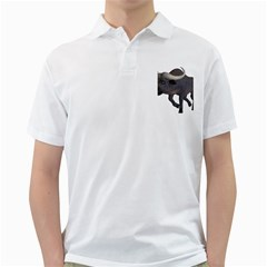 Buffalo 3 Mens  Polo Shirt (White)