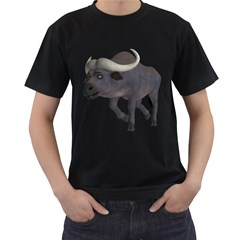 Buffalo 3 Mens' T-shirt (Black)