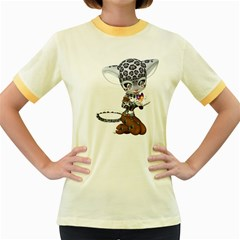 Native Snow Leopard 1 Womens  Ringer T Shirt (colored)