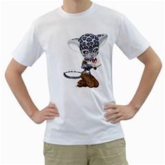 Native Snow Leopard 1 Mens  T Shirt (white)