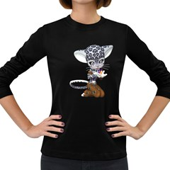 Native Snow Leopard 1 Womens' Long Sleeve T Shirt (dark Colored)
