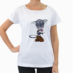 Native Snow Leopard 1 Womens' Maternity T-shirt (White)