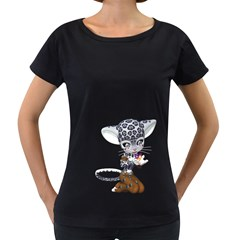 Native Snow Leopard 1 Womens' Maternity T-shirt (Black)