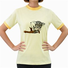 Native Snow Leopard 2 Womens  Ringer T Shirt (colored)