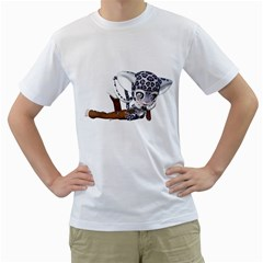 Native Snow Leopard 2 Mens  T-shirt (White)