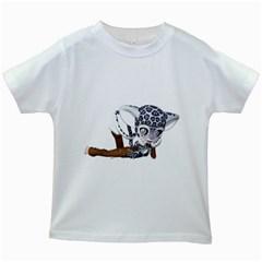 Native Snow Leopard 2 Kids' T-shirt (White)