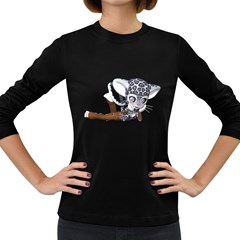 Native Snow Leopard 2 Womens' Long Sleeve T-shirt (Dark Colored)