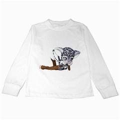Native Snow Leopard 2 Kids Long Sleeve T-Shirt