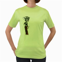 Native Snow Leopard 3 Womens  T-shirt (Green)