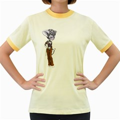 Native Snow Leopard 3 Womens  Ringer T Shirt (colored)