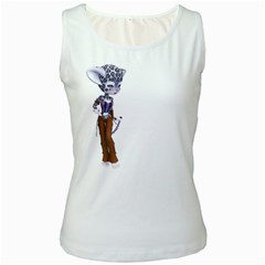 Native Snow Leopard 3 Womens  Tank Top (White)