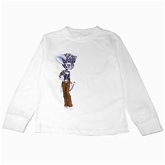 Native Snow Leopard 3 Kids Long Sleeve T Shirt