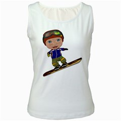 Snowboarder 1 Womens  Tank Top (white)