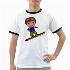 Snowboarder 1 Mens' Ringer T Shirt