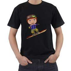 Snowboarder 1 Mens' Two Sided T Shirt (black)