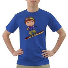 Snowboarder 1 Mens' T-shirt (Colored)
