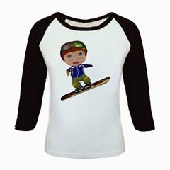 Snowboarder 1 Women s Long Cap Sleeve T-Shirt