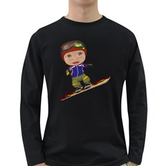 Snowboarder 1 Mens' Long Sleeve T-shirt (Dark Colored)