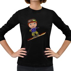 Snowboarder 1 Womens' Long Sleeve T Shirt (dark Colored)