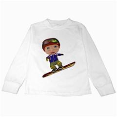 Snowboarder 1 Kids Long Sleeve T-Shirt
