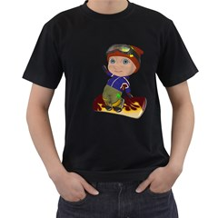 Snowboarder 2 Mens' T-shirt (Black)