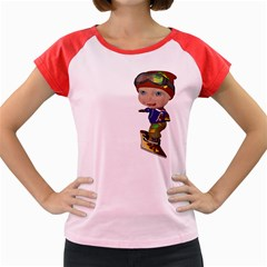 Snowboarder 3 Women s Cap Sleeve T-Shirt (Colored)