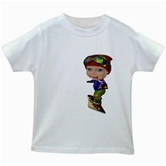 Snowboarder 3 Kids' T-shirt (White)