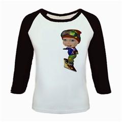 Snowboarder 3 Women s Long Cap Sleeve T Shirt