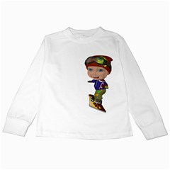 Snowboarder 3 Kids Long Sleeve T-Shirt
