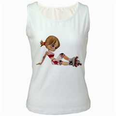 Skater Girl 1 Womens  Tank Top (white)