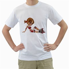 Skater Girl 1 Mens  T Shirt (white)