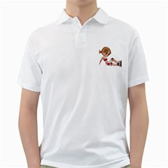Skater Girl 1 Mens  Polo Shirt (White)