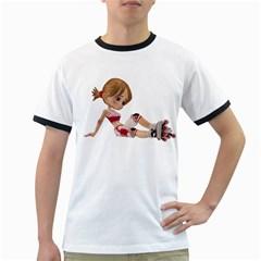 Skater Girl 1 Mens' Ringer T-shirt