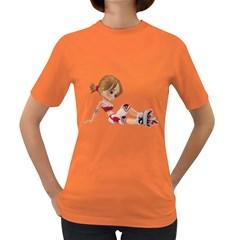 Skater Girl 1 Womens' T-shirt (Colored)