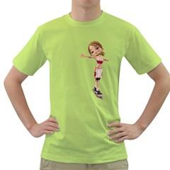 Skater Girl 2 Mens  T-shirt (Green)
