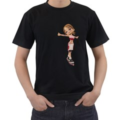 Skater Girl 2 Mens' Two Sided T Shirt (black)