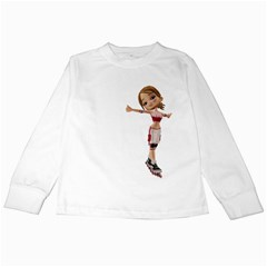 Skater Girl 2 Kids Long Sleeve T-Shirt