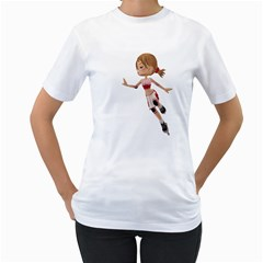 Skater Girl 3 Womens  T Shirt (white)