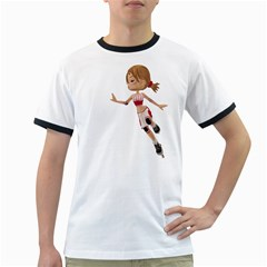 Skater Girl 3 Mens' Ringer T-shirt