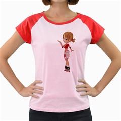 Skater Girl 4 Women s Cap Sleeve T-Shirt (Colored)