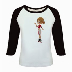 Skater Girl 4 Women s Long Cap Sleeve T Shirt