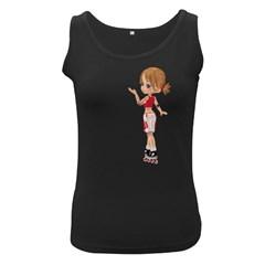 Skater Girl 4 Womens  Tank Top (Black)