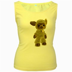 Lamb 2 Womens  Tank Top (Yellow)