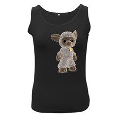 Lamb 2 Womens  Tank Top (black)