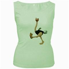 Ostrich 1 Womens  Tank Top (Green)