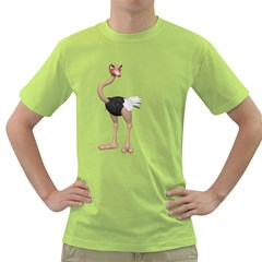 Ostrich 2 Mens  T-shirt (Green)