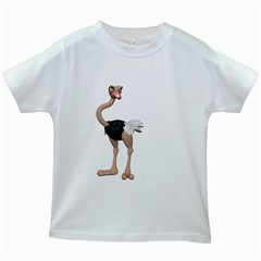 Ostrich 2 Kids' T-shirt (White)