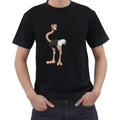 Ostrich 2 Mens' Two Sided T-shirt (Black)